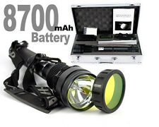 New MTN 85W HID Xenon Torch Flashlight 8500LM Rechargeable Battery 8700mah