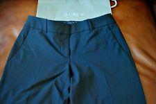 NWT J Crew Tall 1035 Pant in Italian Stretch Wool BLACK 6 6T T6 16968 $188
