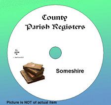 Parish Registers Cumberland, Derbyshire, Devon / Devonshire    genealogy records