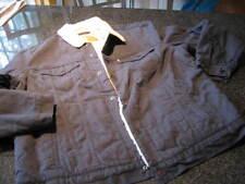 NWT - Mens LEVIS Blue Flannel Sherpa Lined TRUCKER Jacket (XXL)
