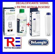 DECALCIFICANTE 500ML 5513296041+FILTRO  5513292811 MACCHINA CAFFE' DE LONGHI