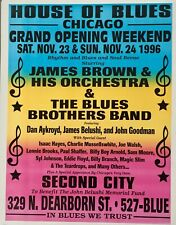 ORIGINAL CHICAGO HOUSE OF BLUES OPENING WEEKEND 1996 POSTER 22 5/8 X 17 1/2