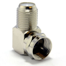 F Type Satellite Socket to Right Angle Male Plug Coupler Adapter