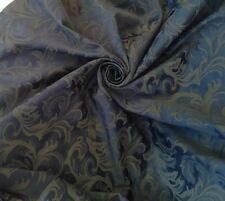 """20 Metri prestigiosa BLU NOTTE PESANTE JACQUARD BROCCATO 60 """"W Curtain Fabric"""