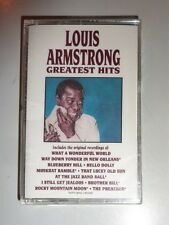 """""""STILL SEALED"""" CASSETTE TAPE  by  LOUIS ARMSTRONG """"GREATEST HITS"""" / D4-77339"""