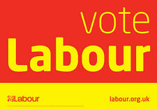 Labour Car sticker UK election 2017 Corbyn 4in