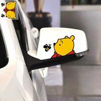 1Pair Car Sticker Running Leopard Upper Wheel Decal Car Rearview Mirror Sticker