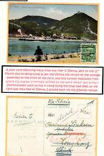HONG KONG 1913 CHINA INCOMING AUSTRIA POSTCARD BACK TO SENDER