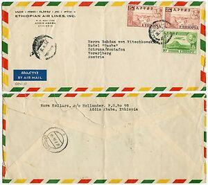 ETHIOPIAN AIRLINES ENVELOPE to AUSTRIA 1954