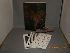 Emboseed Hand Made Leather Journal Note Book Made in Itay Plus 3 Mini Note Books