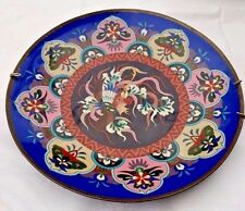 Large Japanese Cloisonne Plate With Rooster.