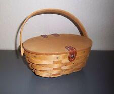 Longaberger ~ Warm Brown Oval KIDDIE PURSE Basket with Swinging Handle ~ 2008