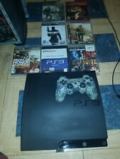 Sony PlayStation 3 PS3 Slim Console Games BUNDLE 120gb