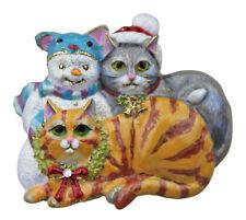 KIRKS FOLLY KITTY CAT IMPOSTER SNOWMAN PIN / PENDANT  goldtone