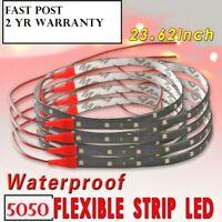 2 RED LED Strip Light 60cm Spoiler Flexible Car Rear Brake High Stop Lights 3RD