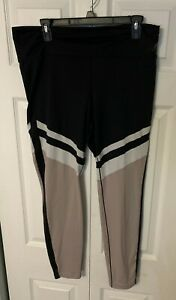 New Balance Black With White & Mauve Leggings Fitness Women's Size XL