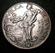 1947  SILVER  PANAMA  1  BALBOA  COIN HIGH GRADE COIN BEAUTY