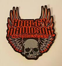 Harley Davidson Patch Aufnäher Skull Biker Größe 11 x 13 cm