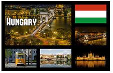 Hungría - RECUERDO ORIGINAL Imán de NEVERA - MONUMENTOS/Ciudades-REGALO/Navidad