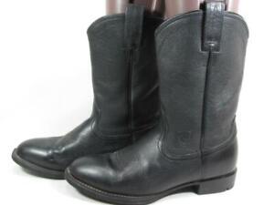 Ariat Heritage Roper Cowboy Boot Women size 6.5 Black