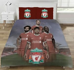 Liverpool FC Double Duvet Set Players Officially Licensed Product Football Reds