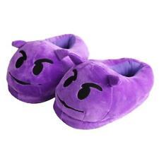 Unisex Winter Warm Home Shoes Emoji Expression Plush Stuffed Men Women Slippers