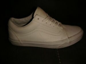 VANS OLD SKOOL LEATHER PUMPS TRAINERS - WHITE - SIZE 5 UK / 38 EU ADULT - M28