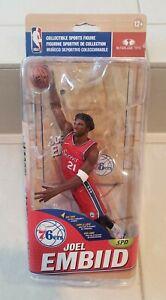 Joel Embiid NBA 32 Philadelphia 76ers Red Jersey Rookie Figure McFarlane - READ