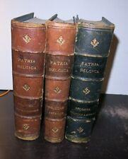 Patria Belgica National Encyclopedia of Belgium 3 Vols 1874 Scarce Social Politi
