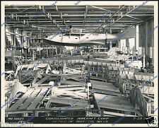 "CONSOLIDATED PBY-1 CATALINA, ASSEMBLY LINE 1936 - ORIGINAL PERIOD PHOTO 8.1""x10"""