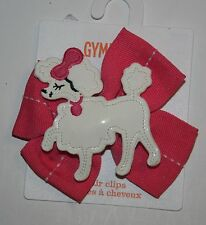 New Gymboree Pink Poodle Bow Barrette Clip Hair Accessory NWT Posh and Playful