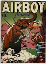 AIRBOY VOL 4 #1, 1947 5.0 VERY GOOD / FINE HTF! AIRBOY TIED TO TREE COVER