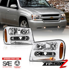 2002-2009 Chevrolet Trail Blazer Front Factory Style Headlights PAIR 02-06 EXT