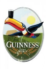 Guinness Toucan Oval Resin Sign Wall Art Irish Ireland Extra Stout Beer NEW