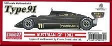 STUDIO27 1/20 LOTUS91 Austria 1982 Multimedia kit