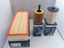 Audi A3 2.0 TDI Service Kit Oil Air Fuel Filter 2003 to 2013 BOSCH OPT3