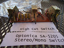 Optonica Sa-5205 Stereo Receiver Parting Out Hi/Lo Filter + Mode Switch + Pcb