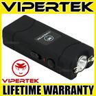VIPERTEK Stun Gun Micro Mini BLACK VTS-881 390 BV Rechargeable LED Flashlight <br/> 390 Billion Stun Gun + LIFETIME WARRANTY + FREE Case