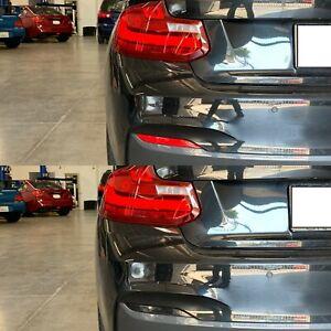 BMW F22 2 Series 228i 230i 240i Rear Bumper Reflector Overlay SMOKE