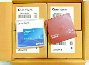 NEW- QUANTUM LTO- 8 Cartridge Ultrium Backup Data Tape - MR-L8MQN-01