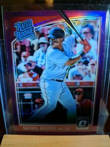 2018 DONRUSS OPTIC RAFAEL DEVERS  RATED ROOKIE PRIZMS PINK REFRACTOR RC SP
