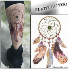 ►GRAND TATOUAGE TEMPORAIRE Attrape rêve (faux tattoo femme, autocollant flash)◄