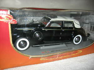 1937 LINCOLN TOURING CABRIOLET SIGNATURE MODELS 1:18 OPENING HOOD DOORS & TRUNK