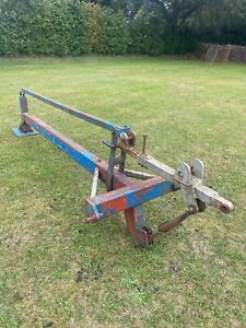 TRACTOR FENCE POST DAVID THOMAS POST DRIVER KNOCKER-3 POINT LINK MOUNTED-GOOD