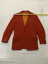 Vintage Louart California Dark Orange Blazer size 42 R Medium Mens