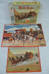 Vintage Milton Bradley Wells Fargo 3 Jigsaw Puzzles Complete