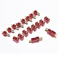 10pairs/20pcs t plug male & female deans connectors style for rc lipo battery FO