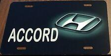 HONDA CUSTOM LICENSE PLATE CAR EMBLEM  ACCORD Version