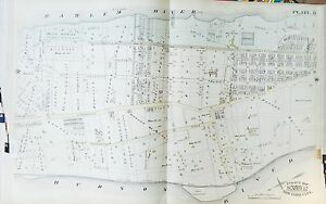ORIG 1885 INWOOD WASHINGTON HEIGHTS MANHATTAN NEW YORK 166th ST-NAEGLE ATLAS MAP