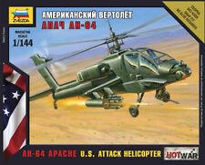 Z7408 Ah-64 Apache nos helicóptero de ataque-Zvezda Moderno-Guerra Caliente - 1/144
